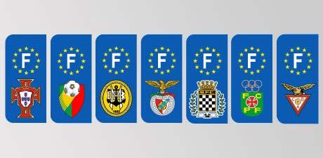 plaque immatriculation stickers logo