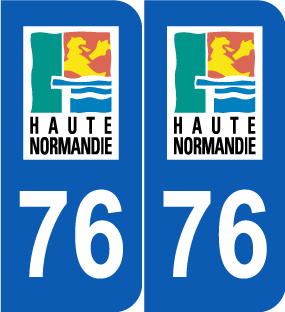 Stickers 76 seine maritime pour plaque d 39 immatriculation for 76 haute normandie
