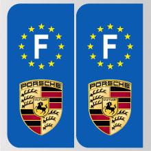 Stickers Plaque Porsche Logo Marque Automobile Autocollant