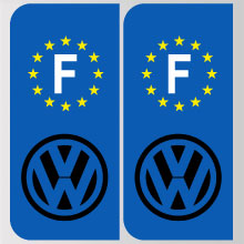 stickers plaque volkswagen logo marque automobile autocollant volkswagen adhesif pour plaque. Black Bedroom Furniture Sets. Home Design Ideas