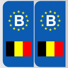 stickers plaque belgique logo marque automobile autocollant belgique adhesif pour plaque belgique. Black Bedroom Furniture Sets. Home Design Ideas
