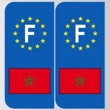 stickers plaque maroc logo marque automobile autocollant maroc adhesif pour plaque maroc. Black Bedroom Furniture Sets. Home Design Ideas