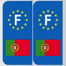 stickers plaque portugal logo portugais marque automobile autocollant portugal adhesif pour. Black Bedroom Furniture Sets. Home Design Ideas
