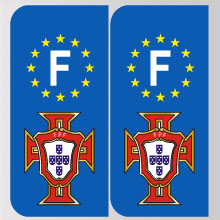 plaque immatriculation stickers plaques pays portugal