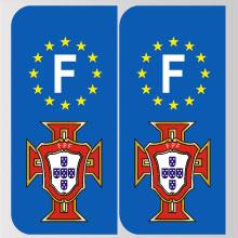 stickers plaque portugal logo portugais marque automobile. Black Bedroom Furniture Sets. Home Design Ideas