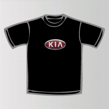 tee shirt kia logo marque automobile kia. Black Bedroom Furniture Sets. Home Design Ideas