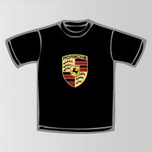 tee shirt porsche logo marque automobile porsche. Black Bedroom Furniture Sets. Home Design Ideas